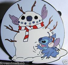 Disney Auction Lilo & Stitch Christmas Holiday Snowman LE 100 Pin