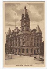 Post Office Hamilton Ontario Canada sepia postcard