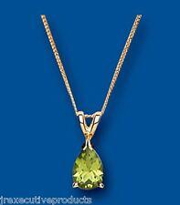Peridot Pendant Peridot Necklace Yellow Gold Peridot Pendant  Natural Peridot