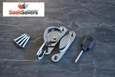 Box of 10 Sliding Sash Window Locking Fitch Lock Fastener - Polished Chrome