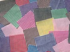 """100 x 4"""" Fabric Remnant Bundle patchwork squares~1/8 gingham Collection~Craft"""