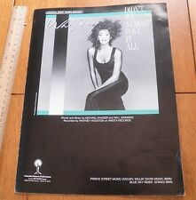Whitney Houston vintage photo Sheet Music Didn't we almost have it all 1985