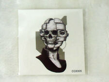 Tatouage temporaire tattoo old school graphique femme skull double face 6 x 6 cm
