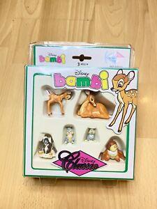 DISNEY CLASSIC BAMBI Kid'M French PVC 6 Figure Set   NEW SEALED   RARE   600110