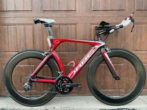 Orbea Ordu Triathlon Bike with Zipp 808 Firecrest Wheels and SRAM Power Meter