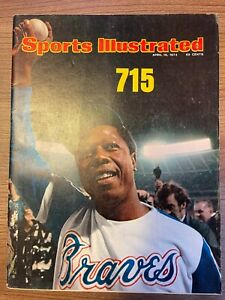 1974 Sports Illustrated HANK AARON BRAVES (NO LABEL) 04/15/1974