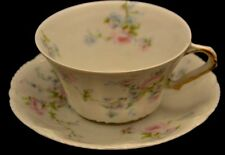 Thedore Haviland Limoges Oversized Cup and Saucer Flower Spray