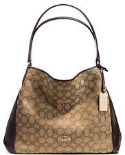 Coach 36466 Signature Edie 31 Shoulder Bag LI/Khaki/Brown & Gold Hardware