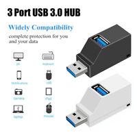 3 Ports USB 3.0 Hub High Speed Data Transfer Splitter Box Adapter For PC Laptop
