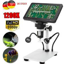 1200X Digital Mikroskop LCD DM9 HD Dispaly Microscope Lupe Magnifier Mit Ständer