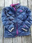 The+North+Face+%7E+Girls+Navy+Blue+with+Purple+Puffer+Jacket+%7E+Size+7-8