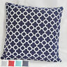 White Quatrefoil Print Geometric Cotton Canvas Throw Pillow Case Cushion Cover