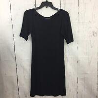 Piazza Sempione Dress Black Short Sleeves Viscose Size 40 US Size 4