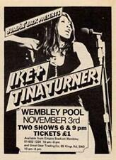 Ike & Tina Turner Wembley Arena concert advert Time Out cutting 1972