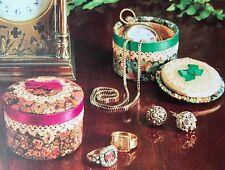 Sewing pattern Jean Greenhowe jolies petites boîtes Boîte avec Couvercle bordure en dentelle RARE