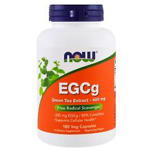 NEW NOW FOODS SUPPLEMENT ANTIOXIDANT EGCg GREEN TEA EXTRACT 400mg 180 VEGGIE CAP