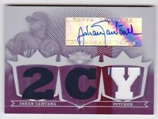JOHAN SANTANA 2007 Triple Threads White Whale Signed Auto GU Jersey Twins 1/1