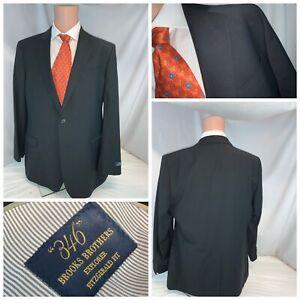 Brooks Brothers Stretch Blazer 44L Black 2B 1V Wool Poly NWT YGI A1-349