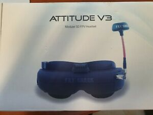 Fat Shark Attitude V3 3d FPV Goggles Headset 5G8 VGA Drone, RC, etc