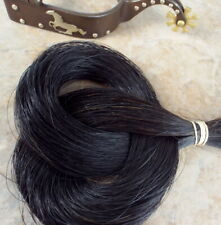 1 oz Bulk, Real, horse hair, deep black, great Crafts, Jewelry, tail hair