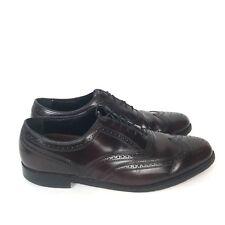 FLORSHEIM Burgundy Leather Wingtip Lace Up Oxfords Brogues Dress Shoes Men's 12