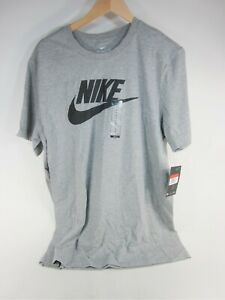 NIKE MEN'S THE NIKE COTTON ACTIVE T-SHIRT,BV-0622-063,GREY,LARGE,NEW WITH TAGS