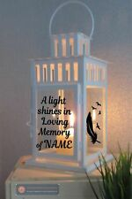 Vinyl Sticker For Lantern - A Light Shines In Memory of (add name)  Memorial