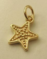 GENUINE SOLID 9K  9ct Yellow GOLD STAR CHARM PENDANT
