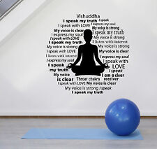 Vinyl Wall Decal Meditation Room Mantra Buddhism Zen Stickers (ig4852)