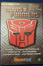 Transformers Pc And Mac Cd Rom Game Special 25th Anniversary collection eddition