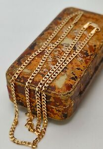 """20"""" Solid 9ct Gold Curb Chain Necklace 20 Inches Fully UK Hallmarked"""