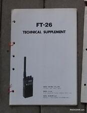 ORIGINAL Yaesu FT-26 Service Repair Shop Manual Transceiver OEM