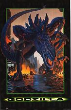 MOVIE POSTER~Godzilla San Francisco Rampage On City Skyscraper Damage Rare~New1
