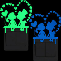 Glow in the dark luminous cute bedroom switch  wall stickers light.switchWCH