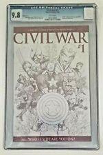 CIVIL WAR #1 - CGC 9.8 WP - SKETCH VARIANT 1:75 Avengers KEY Marvel Comics 2006