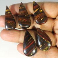 Beautiful 100% Natural IRON Tiger Eye Cabochon Pcs Lot Loose Gemstones KJM2087