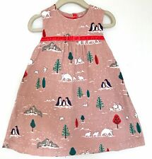 Mini Boden Baby Cord Flower Pinafore Dress. 18-24 M Retail $39.50 Price $25 NWT