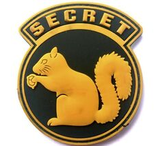 TOP SECRET SQUIRREL BLACK OPS ARMY CIA DEVGRU DELTA SF PVC Hook/Lp PATCH YELLOW