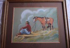 Vintage Charles Lee Yel-Ha-Yah Navajo Native American woman, large painting