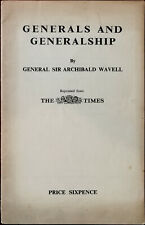 More details for general sir archibald wavell generals and generalship the times 1941