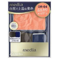 "F/S From JAPAN Kanebo media Collagen Bright Up Cheek ""with brush"" / Color OR-04"