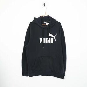 PUMA Big Logo Hoodie Sweatshirt Black XL
