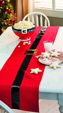 MUD PIE MH6 Vacances Noël cuisine salle à manger Père Ceinture Sequin Tapis