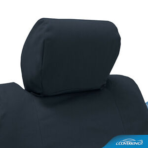 Premium Polycotton Drill Tailored Seat Covers for Chevy Corvette C4 with Logo