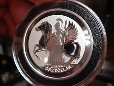 2017 Silver Virgin Islands Coin 1 Oz .999 Fine  BU In  Black  Deluxe Airtite