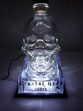 Crystal Head Vodka Bottle Glorifier 4.5V Light Up Display SAME DAY SHIPPING NEW