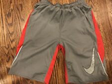 Nike Dri-Fit Athletic Shorts - Size Youth Large/ Red And Grey