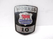 Original Authentic Morris 10 Car Badge. by J Fray, Birmingham.