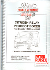 Citroen Relay Peugeot Boxer Fiat Ducato Diesel1994+ A4 Spiral Workshop Manual