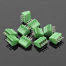 10 pcs 4 poles/4 Pin 2.54mm 0.1'' PCB Universal Screw Terminal Block Connector